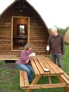 Camping cabins on on Hadrian's Wall